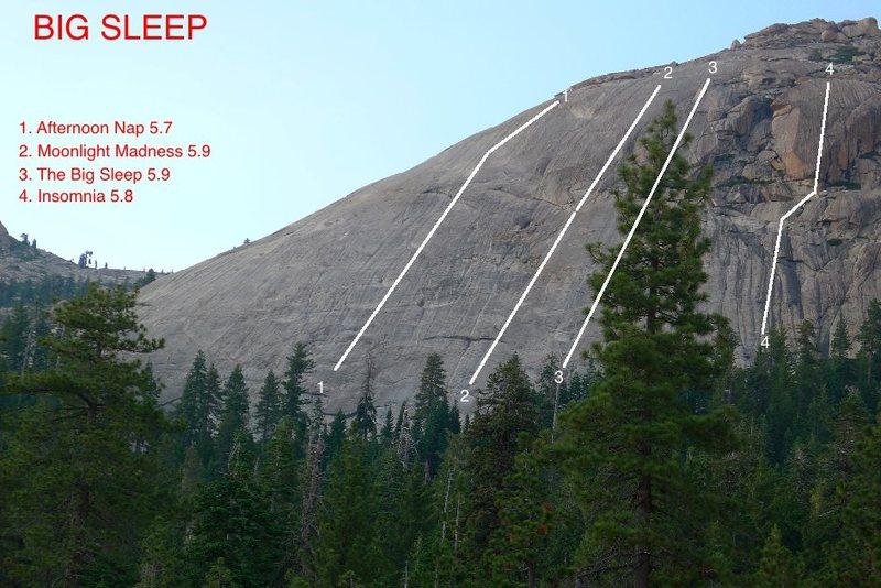 Rock Climbing Photo: Topo To Big Sleep.