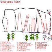 Rock Climbing Photo: Topo To Crocodile Rock.