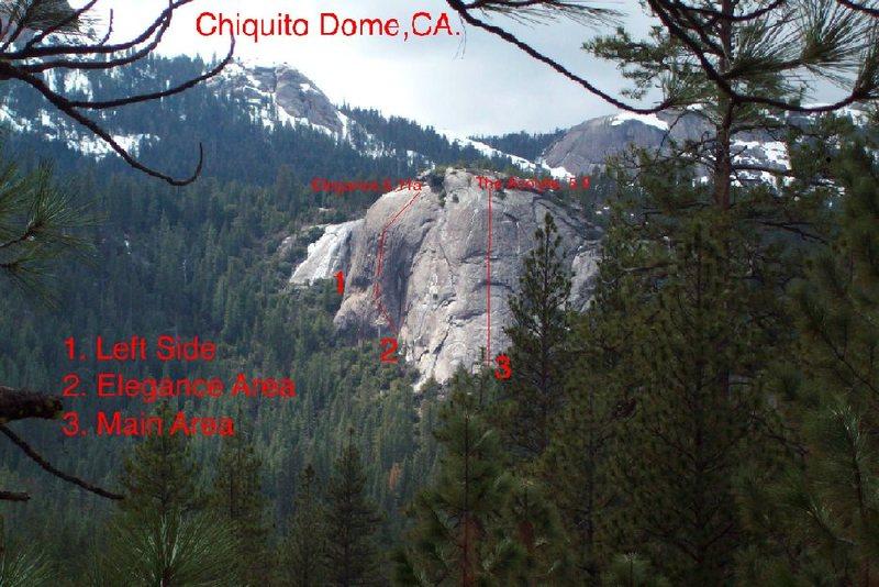 Rock Climbing Photo: Topo To Chiquito Dome.