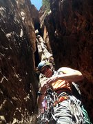 Rock Climbing Photo: Doug Foust racking up at the base of the first pit...