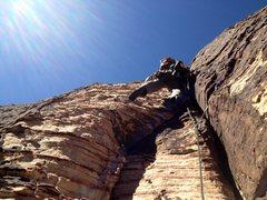 Rock Climbing Photo: Doug Foust cruising through the third pitch jams.