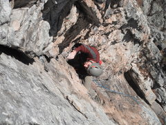 Rock Climbing Photo: Bee Sting Corner.