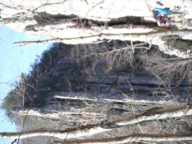 Rock Climbing Photo: Terrible photo however you can somewhat gauge the ...