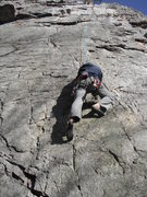 Rock Climbing Photo: Looking straight up Sunshine. The Burn is just to ...
