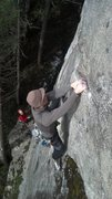 Rock Climbing Photo: First ascent of The Black Sea, P1 (11b).