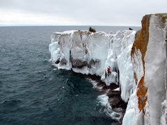 Rock Climbing Photo: Photo: Evan Johnson  Wave Ice Area  Route: Red Str...