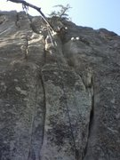 Rock Climbing Photo: Climb the double cracks to start.
