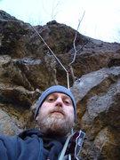 Rock Climbing Photo: Acosta at start.