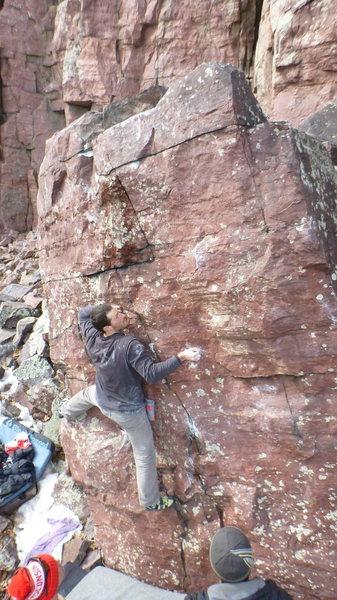 Rock Climbing Photo: Ian on the FA