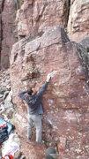 Rock Climbing Photo: Crux move.