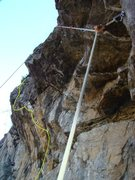 Rock Climbing Photo: Magnanimous is the green drawn line to the left wi...