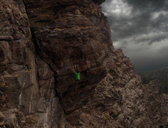 Rock Climbing Photo: a solo of hot dog on the big dog wall in Clear cre...