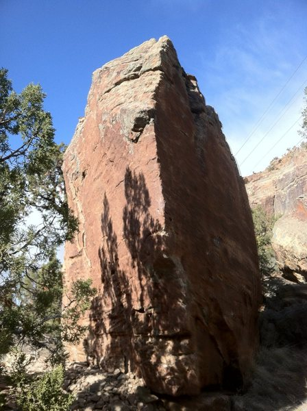 Rock Climbing Photo: Southwest arete of Jason vs. Freddy Block.