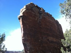 Rock Climbing Photo: South side of the east face of Jason vs. Freddy Bl...