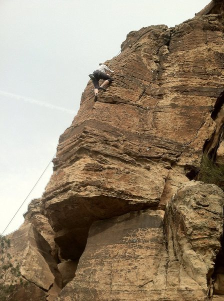 Rock Climbing Photo: Calene busting out True Grit.
