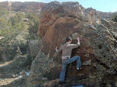 Rock Climbing Photo: Aaron working Cold Turkey.
