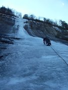 Rock Climbing Photo: Shannon starting up Starshine, March 2013