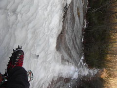Rock Climbing Photo: Looking down past my old school Habeler Superlight...