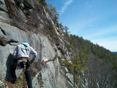 Rock Climbing Photo: Chino atop with some of the Indigeous wall and the...