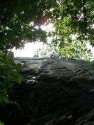 Rock Climbing Photo: Greta at the top.