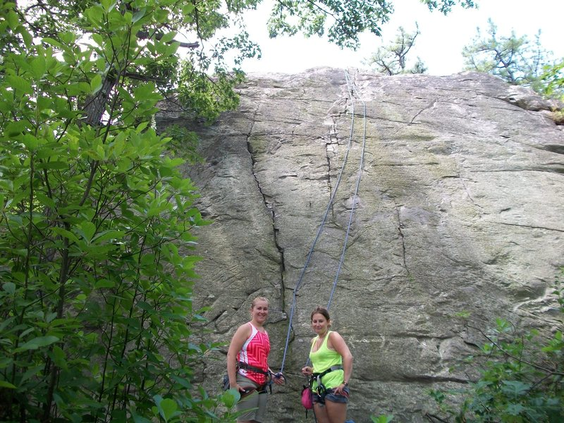 Rock Climbing Photo: Learning the ropes at crag 3.