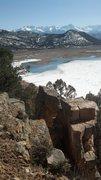 Rock Climbing Photo: View of Ridgway Reservoir and the Sneffels Range.