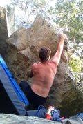 Rock Climbing Photo: Working the arête