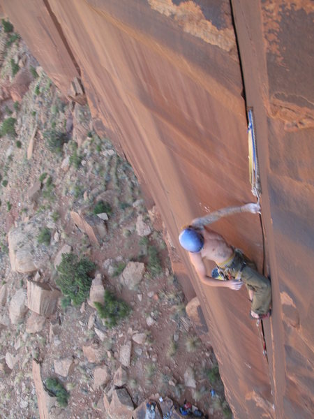 Rock Climbing Photo: big jon moving up