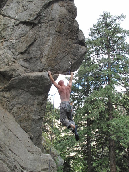 Rock Climbing Photo: Chris pulling down