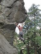 Rock Climbing Photo: Chris pulling down
