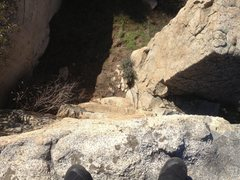 Rock Climbing Photo: Looking down from top out