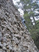 Rock Climbing Photo: Lots of  cobbles on this route