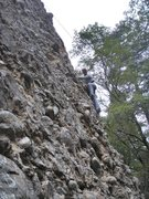 Rock Climbing Photo: Heading toward the huge cobble near the top