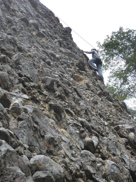 Rock Climbing Photo: Just below the microwave-sized cobble