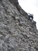 Rock Climbing Photo: Standing on the enormous cobble