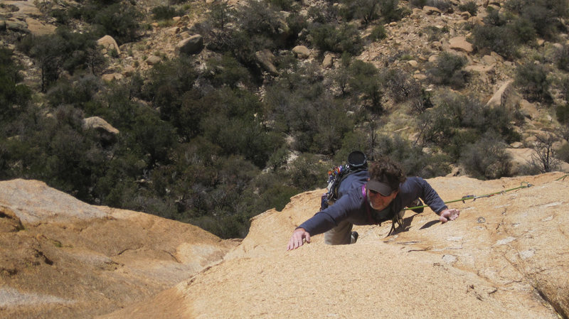 Rock Climbing Photo: Michael Moore on Pitch 4, the Peacemaker