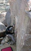 Rock Climbing Photo: Miledi (V3 R), Joshua Tree NP  Photo by Tyler Loga...
