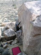 Rock Climbing Photo: Miledi (V3 R), Joshua Tree NP. Photo by Tyler Loga...