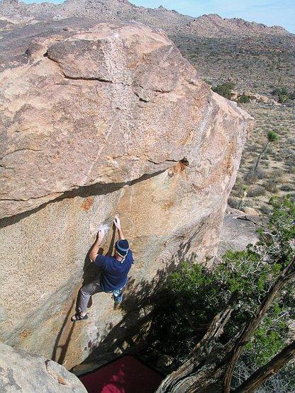 Rock Climbing Photo: K.D. Supreme (V4), Joshua Tree NP  Photo by Tyler ...