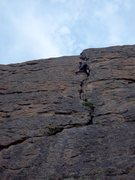 Rock Climbing Photo: Simon Thompson leading Your Possible Pasts, Jurass...
