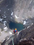 Rock Climbing Photo: Coming up the second to last pitch.    Photo by Si...