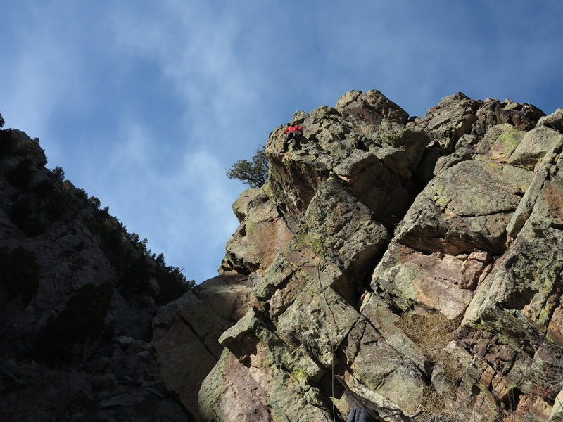 Wayne Crill heads up Russian Arete for its 2nd? ascent!
