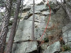 Rock Climbing Photo: Lower section