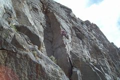 Rock Climbing Photo: Mike Arechiga on the mega classic, Crusher. 5.9. P...