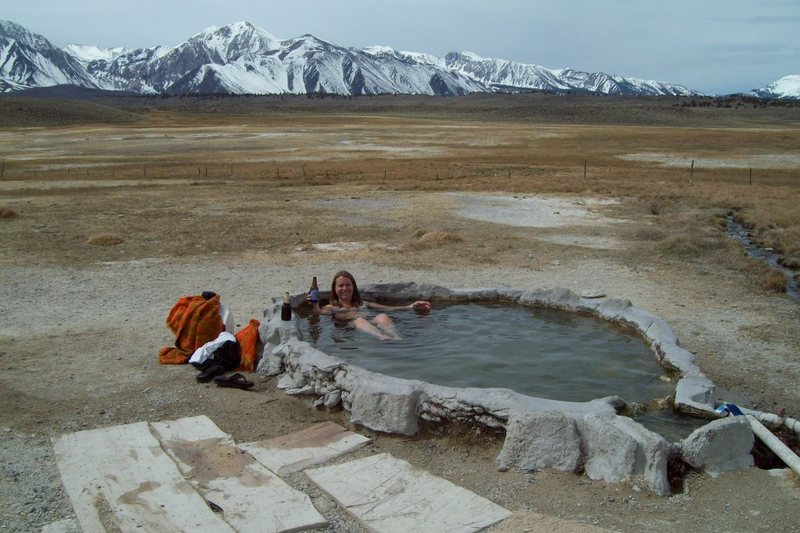 Amy Wilkins at the Hot Cold Tub/ Hilltop.