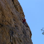 Rock Climbing Photo: Mike Arechiga on, Fender Strat. 5.10a.