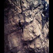 Rock Climbing Photo: Pinch hitter