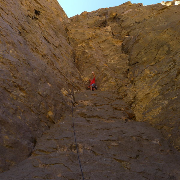 Mike Arechiga on a super fun new 5.10a route on Pub Wall, need a 70 meter cord for this route.