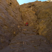 Rock Climbing Photo: Mike Arechiga on a super fun new 5.10a route on Pu...