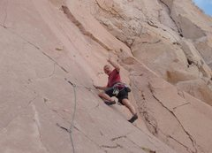 Rock Climbing Photo: Mike Arechiga on, Road Wave. 5.10a.